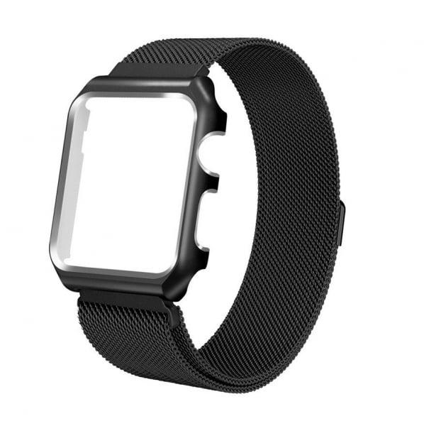 Bratara Apple Watch 4, 40mm full magnetic strap black 0