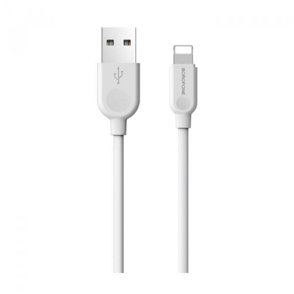 Cablu date iPhone 1m 2.4A,  LinkJet BX14 IPHONE lightning 2 metri, ALb 1