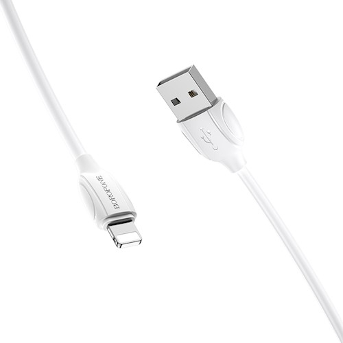 Cablu date iPhone 1m 2.4A, Alb Lighting Cable Borofone BX19 2
