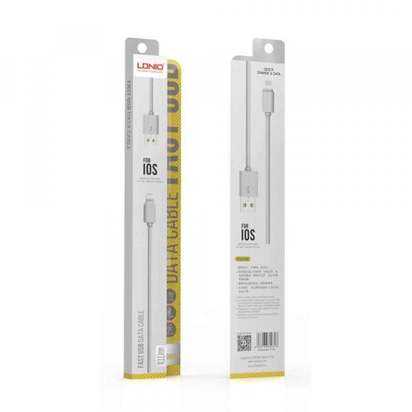 Cablu date iPhone 2.4A 1M LDNIO 0