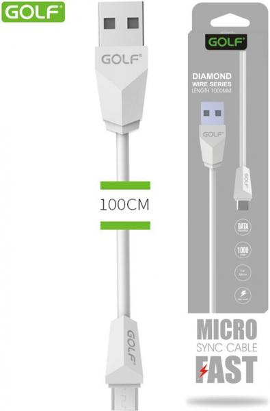 Cablu date Micro Usb Golf Alb [0]