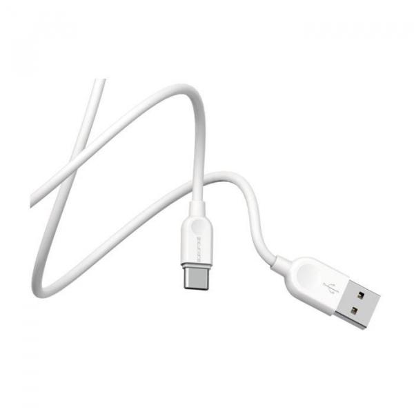 Cablu date USB Type C, Borofone LinkJet BX14 Type-C 1M white 5