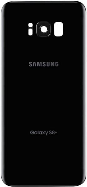 Capac baterie cu sticla camera Samsung S8 Plus G955f Negru Compatibil 0