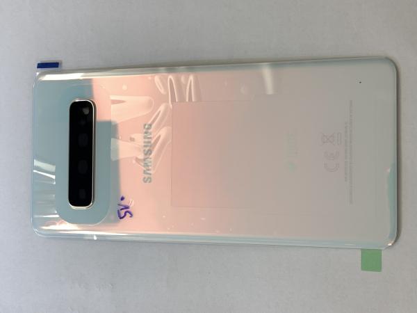 Capac spate sticla spate Samsung S10 G973f Alb [0]