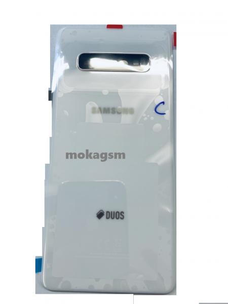 Capac spate sticla spate Samsung S10 Plus G975  Ceramic White [0]
