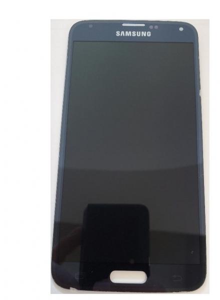 Ecran Display cu touchscreen Samsung Galaxy S5 G900F, G901F, Negru Blue, Swap [0]