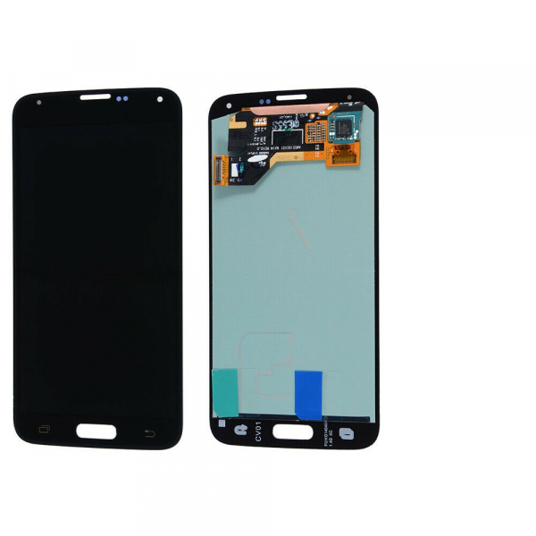 Display cu touchscreen Samsung Galaxy S5 G900F, G901F, Negru OLED 0