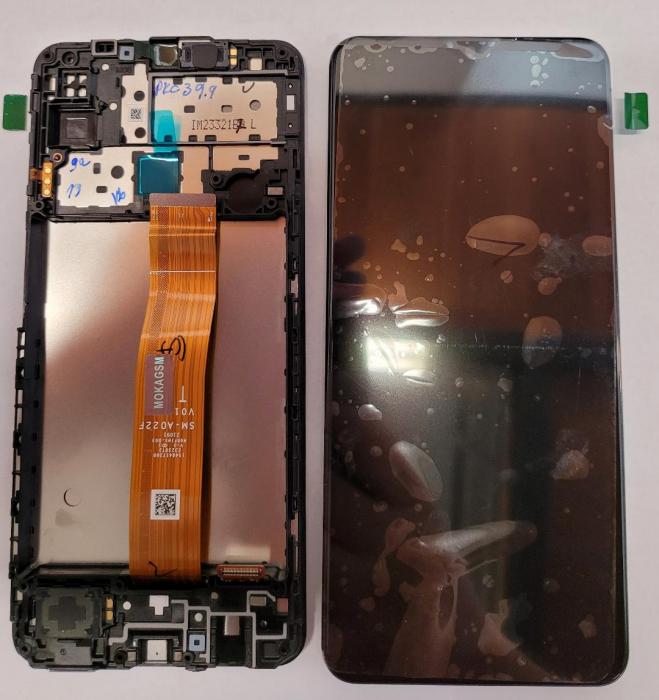 Ecran Display cu touchscreen Samsung Galaxy M12 M127 cu Rama Service Pack [0]