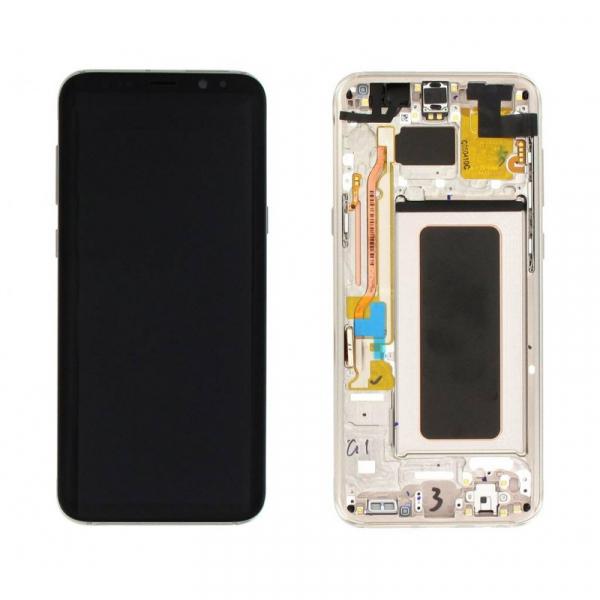 Ecran Display cu touchscreen si rama Samsung Galaxy S8 Plus G955f Gold [0]