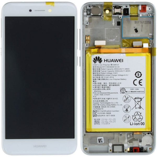 Ecran Display Honor 8 Lite cu Rama si Baterie, Alb [0]