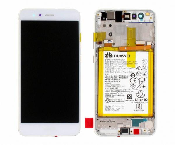 Ecran Display Huawei P10 Lite cu rama si acumulator Alb, Service Pack 0