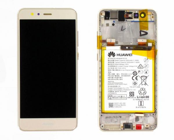 Ecran Display Huawei P10 Lite Service Pack cu rama acumulator Gold 0