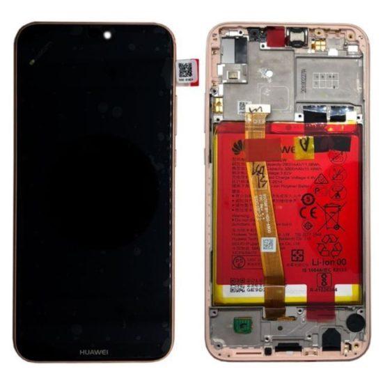 Ecran Display Huawei P20 Lite Service Pack + Rama + Acumulator + difuzor Original GOLD 0