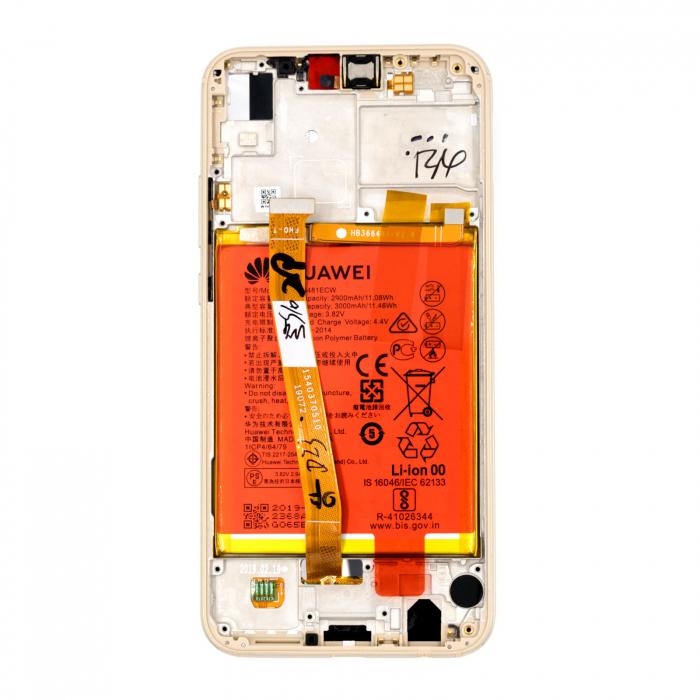 Ecran Display Huawei P20 Lite Service Pack + Rama + Acumulator + difuzor Original GOLD 2