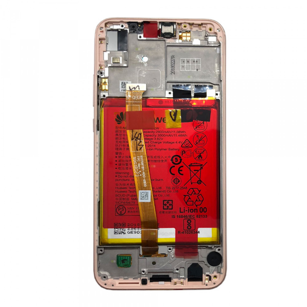Ecran Display Huawei P20 Lite Service Pack + Acumulator + difuzor Original Pink [2]