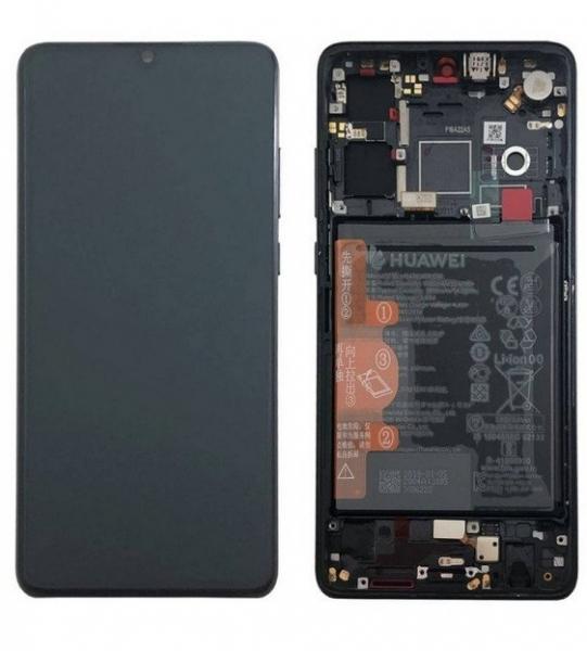 Ecran Display Huawei P30 Service Pack + Acumulator Negru, ELE-L29, ELE-L09 [0]