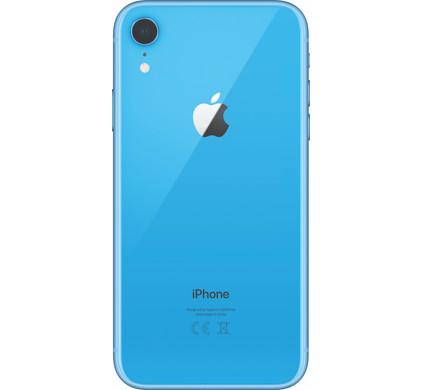 Carcasa spate sticla iPhone Xr Blue Original Swap [0]