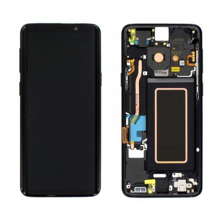 Ecran Display Samsung Galaxy S9 G960f Reconditionat, cu Rama Noua, Negru 0