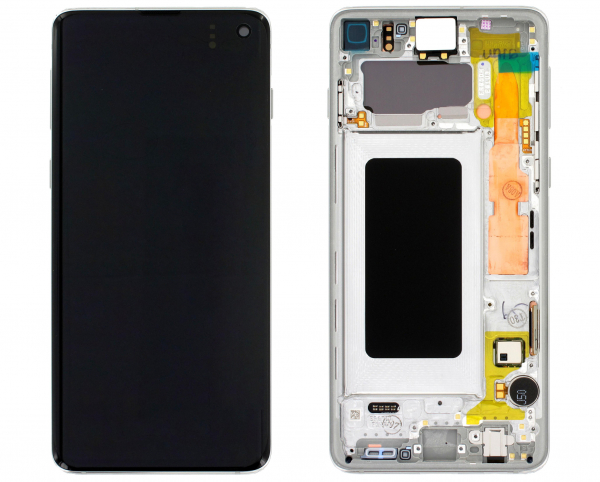 Ecran Display Samsung S10 G973 Alb, GH82-18835B [0]