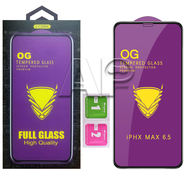 Folie Sticla 9D OG Full Glue iPhone 6 iPhone 6s, Neagra 0
