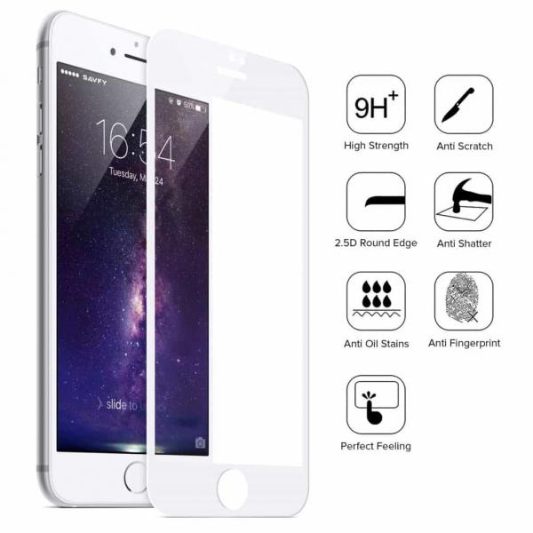 Folie Sticla 9D OG Full Glue iPhone 7  iPhone 8, White 2