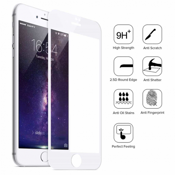 Folie Sticla 9D OG Full Glue iPhone 7 Plus iPhone 8 Plus, White 0