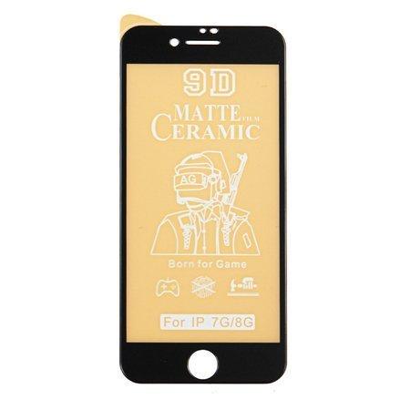 Folie sticlaiPhone 7, iPhone 8, Negru Full Glue, Ceramic Glass Mata 5D 0