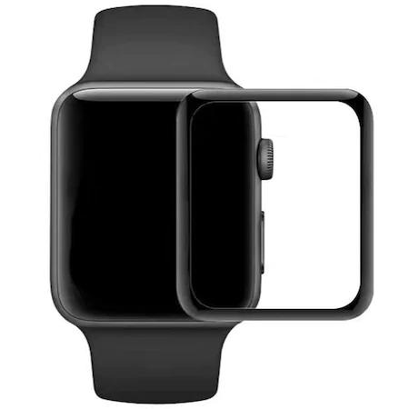 Folie sticla ecran Ceas Apple Wath 4 44mm Full Glue Negru 0