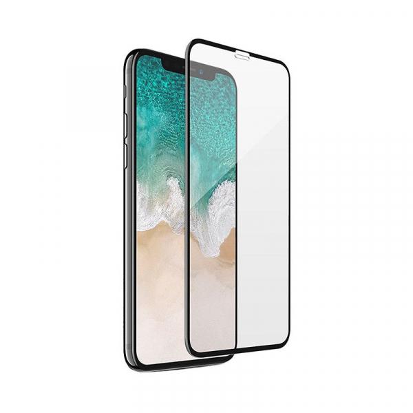 Folie sticla iPhone XR, iPhone 11, Negru 5D 0