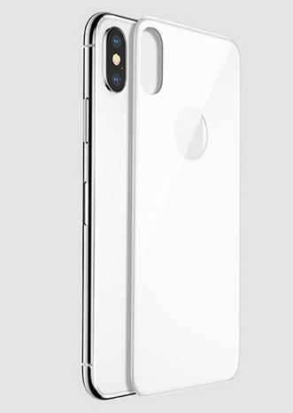 Folie sticla Spate iPhone X, White 2.5D 0