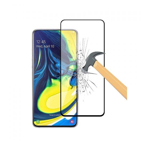 Folie Sticla Samsung A80 Negru, 2.5D 0