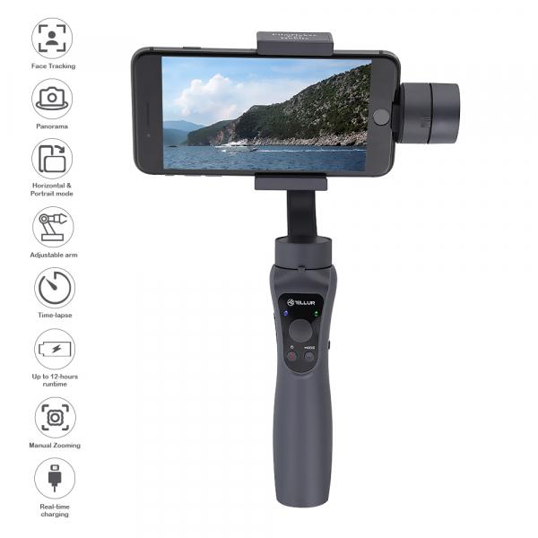 Gimbal Stabilizator 3 Axe pentru camera sau telefoane mobile