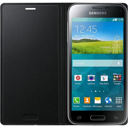 Husa Flip Samsung s5 mini Book Case Black WALLET 0