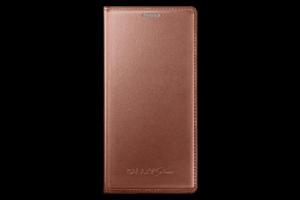 Husa Flip Samsung s5 mini Book Case Rose Gold WALLET 1