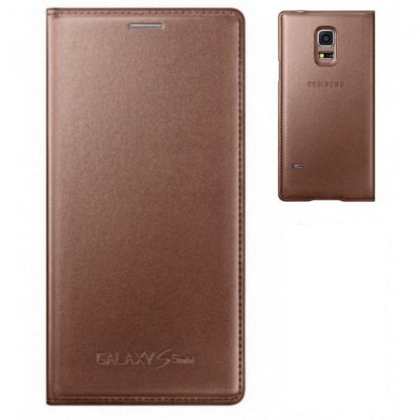 Husa Flip Samsung s5 mini Book Case Rose Gold WALLET 0