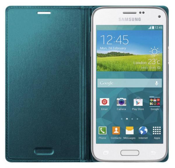 Husa Flip Samsung s5 mini Book Case Green 1