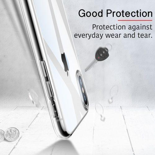 Husa slim ESR Eseential Zero iPhone X, Clear White 3