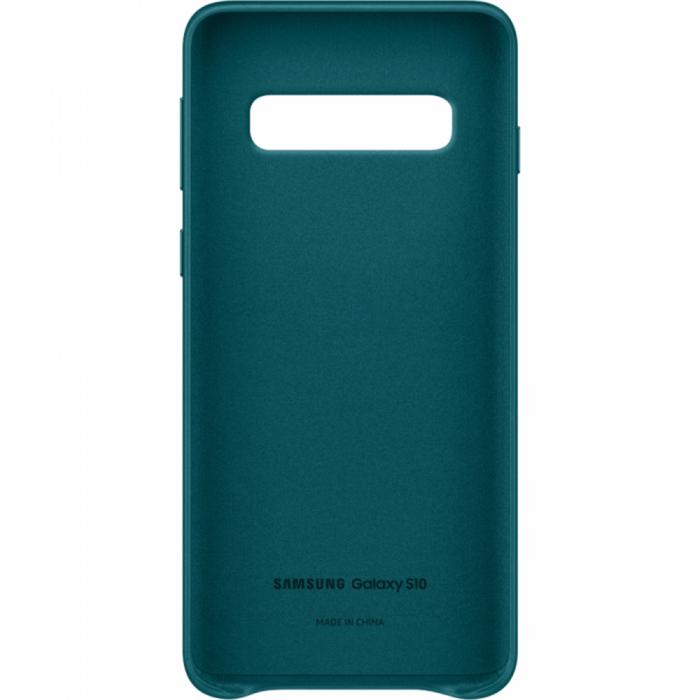 Husa Piele pentru Samsung Galaxy S10 G973f, Green 2