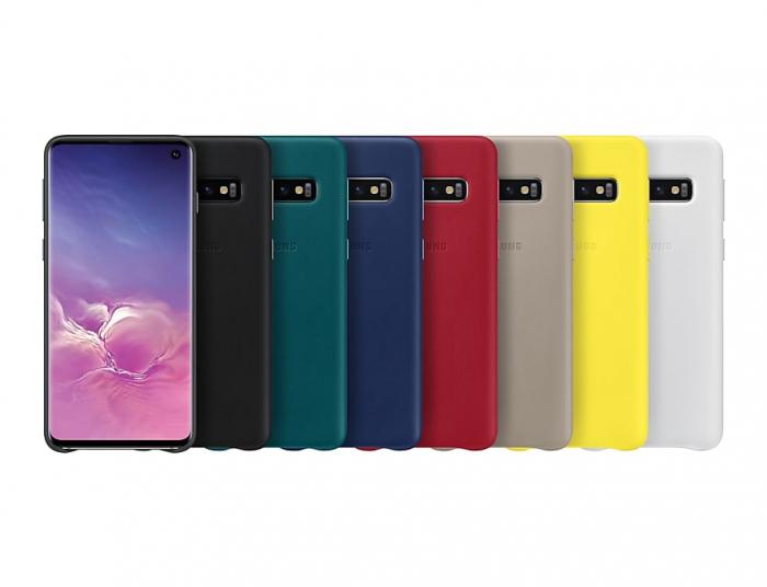 Husa Piele pentru Samsung Galaxy S10 G973f, Navy 4