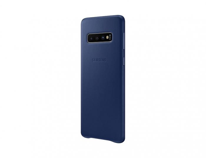 Husa Piele pentru Samsung Galaxy S10 G973f, Navy 2