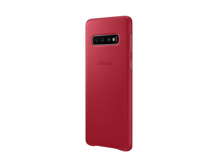 Husa Piele pentru Samsung Galaxy S10 G973f, Red Rosu 3
