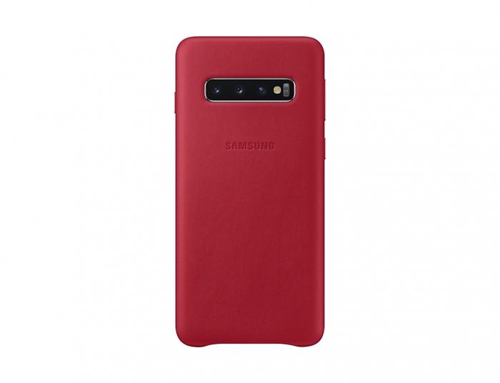 Husa Piele pentru Samsung Galaxy S10 G973f, Red Rosu 0