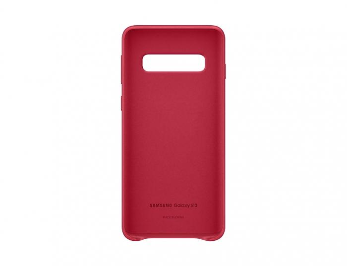 Husa Piele pentru Samsung Galaxy S10 G973f, Red Rosu 2
