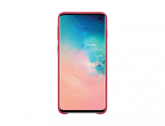 Husa Piele pentru Samsung Galaxy S10 G973f, Red Rosu 1