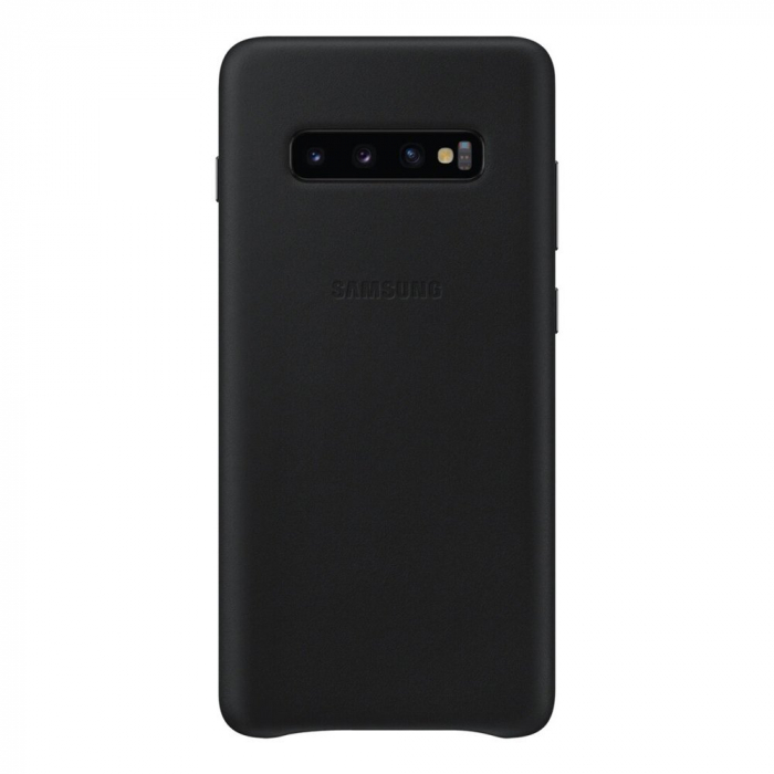 Husa Piele pentru Samsung Galaxy S10 Plus G975f, Neagra 1