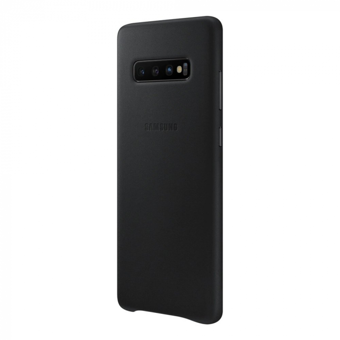 Husa Piele pentru Samsung Galaxy S10 Plus G975f, Neagra 4