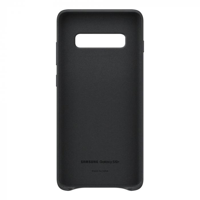 Husa Piele pentru Samsung Galaxy S10 Plus G975f, Neagra 3