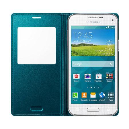 Husa Flip Samsung Cover S-View EF-CG800BG for Galaxy S5 Mini SM-G800, EF-CG800BGEGWW - Green 2