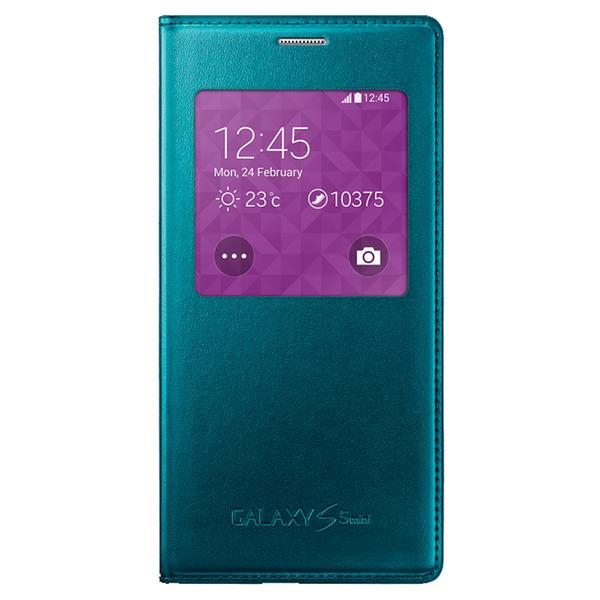Husa Flip Samsung Cover S-View EF-CG800BG for Galaxy S5 Mini SM-G800, EF-CG800BGEGWW - Green 0
