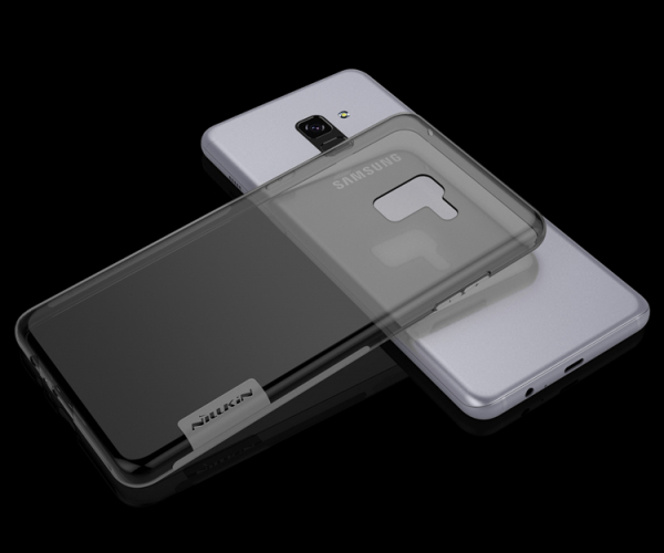 Husa silicon Nilkin pentru  Samsung A730 A8 Plus 2018 Grey [0]